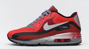 Nike Air Max Lunar90 GS – University Red / Black–Metallic Silver