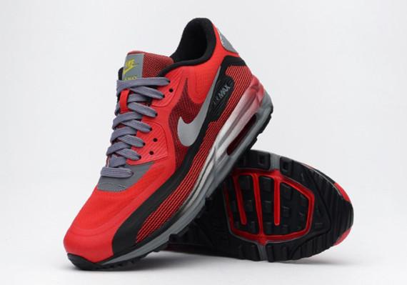 Nike Air Max Lunar90 GS – University Red / Black–Metallic Silver 2