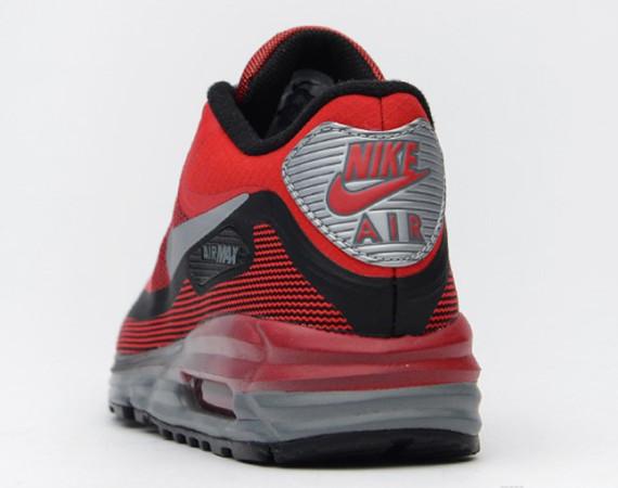 Nike Air Max Lunar90 GS – University Red / Black–Metallic Silver 3