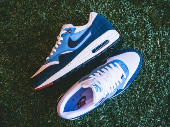 Nike Air Max 1 – White / Midnight Navy – University Blue 3