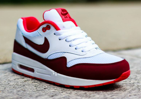 Nike WMNS Air Max 1 - White / Team Red- Action Red 3