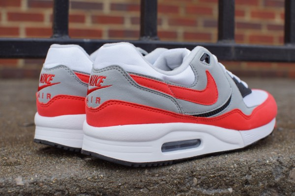 Nike Air Max Light Essential - White/Light Crimson-Grey-Black 3