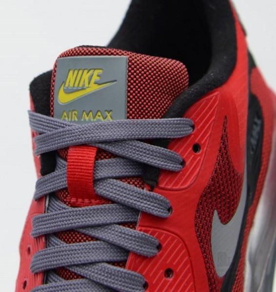 Nike Air Max Lunar90 GS – University Red / Black–Metallic Silver 4
