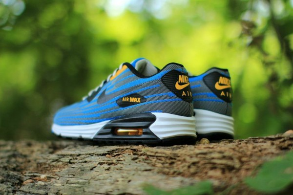 Nike Air Max Lunar90 Jacquard - Light Ash / Photo Blue 4