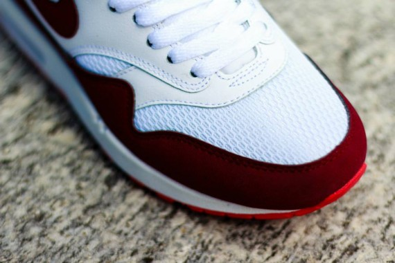 Nike WMNS Air Max 1 - White / Team Red- Action Red 4