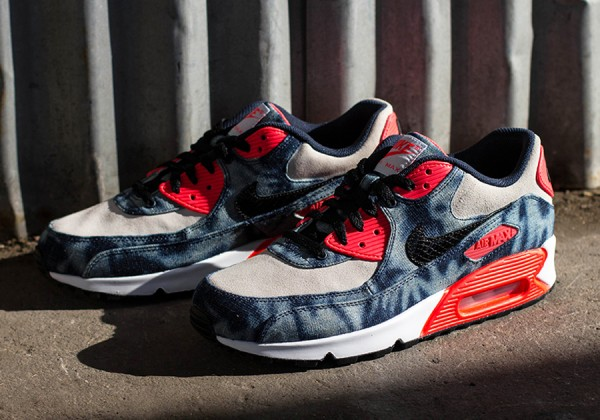 "Nike Air Max 90 ""Infrared Washed Denim"" 4"