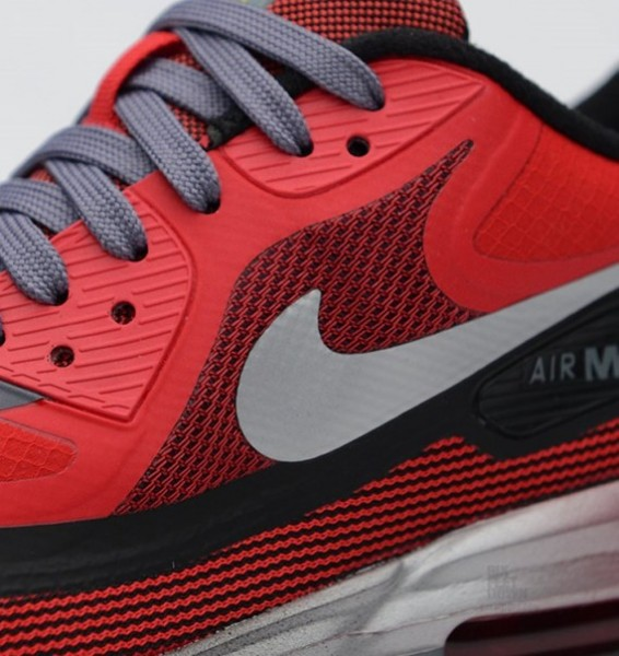 Nike Air Max Lunar90 GS – University Red / Black–Metallic Silver 5