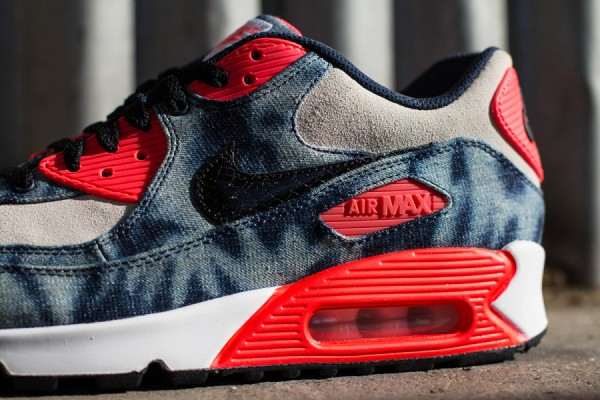 "Nike Air Max 90 ""Infrared Washed Denim"" 6"