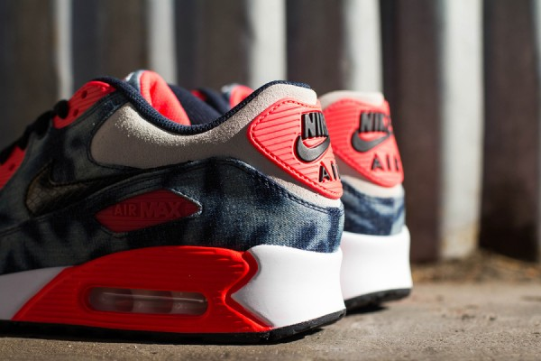 "Nike Air Max 90 ""Infrared Washed Denim"" 7"