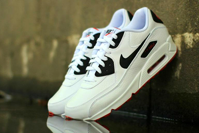 NIKE-AIR-MAX-90-LEATHER-BLACK-WHITE-RED-1