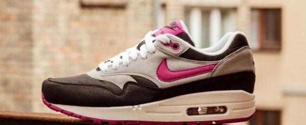 Nike Air Max 1 WMNS – Black/Rave Pink – Wolf Grey