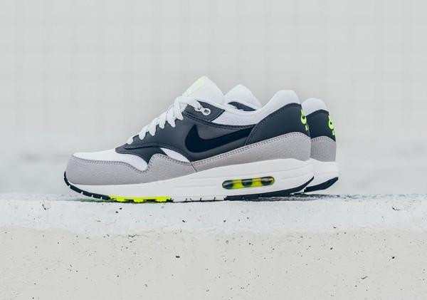 Nike Air Max 1 Essential - White/Black-Dark Grey-Wolf Grey-Volt 2
