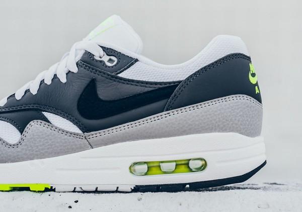 Nike Air Max 1 Essential - White/Black-Dark Grey-Wolf Grey-Volt 4