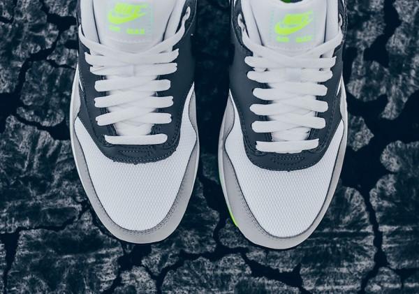 Nike Air Max 1 Essential - White/Black-Dark Grey-Wolf Grey-Volt 5