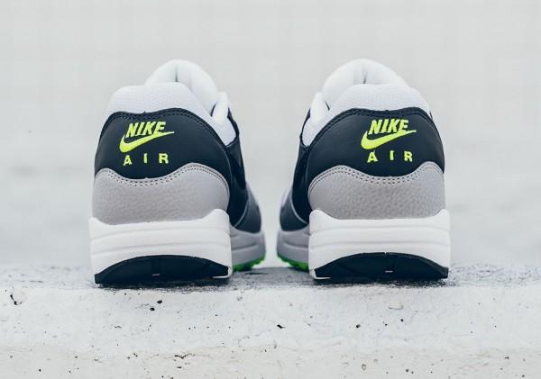Nike Air Max 1 Essential - White/Black-Dark Grey-Wolf Grey-Volt 6