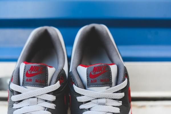 Nike Air Max 1 Essential - Wolf Grey/Gym Red 6