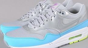 Nike Air Max 1 FB – Metallic Grey / Light Blue – Volt