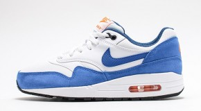 Nike Air Max 1 GS – White / Game Royal – Total Orange – Black