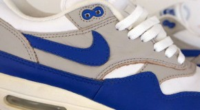 Nike Air Max 1 Leather – White – Royal Blue – 1999 Retro
