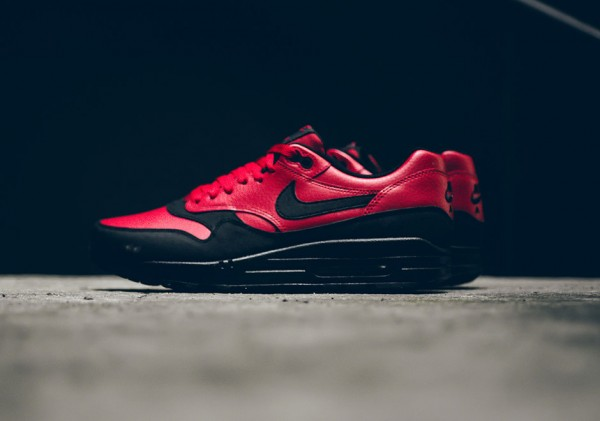 Nike Air Max 1 LTR Premium - Gym Red/Black 3