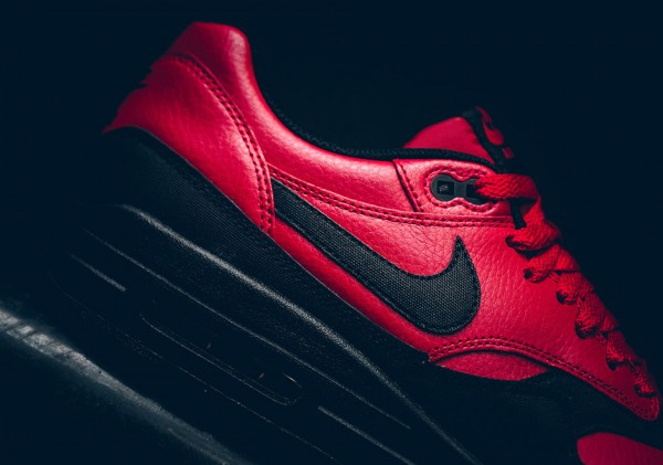 Nike Air Max 1 LTR Premium - Gym Red/Black 4