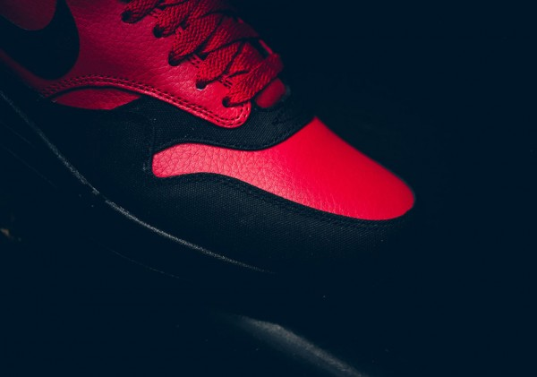 Nike Air Max 1 LTR Premium - Gym Red/Black 5