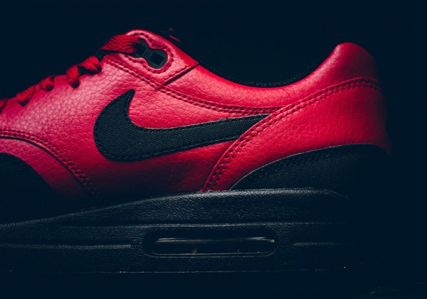 Nike Air Max 1 LTR Premium - Gym Red/Black 7