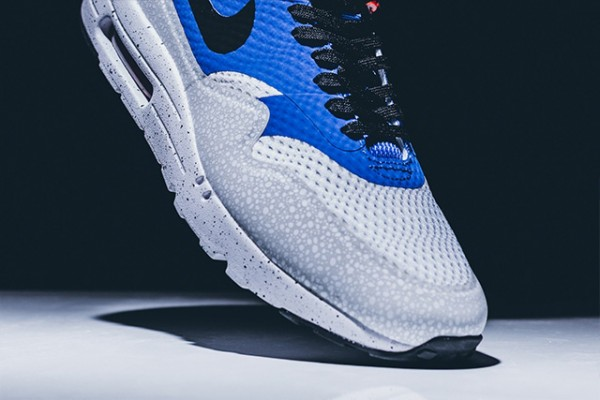 Nike Air Max 1 Ultra Essential - White/Black-Varsity Royal-Reflective Silver 5
