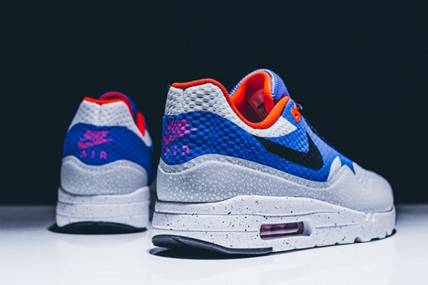 Nike Air Max 1 Ultra Essential - White/Black-Varsity Royal-Reflective Silver 7