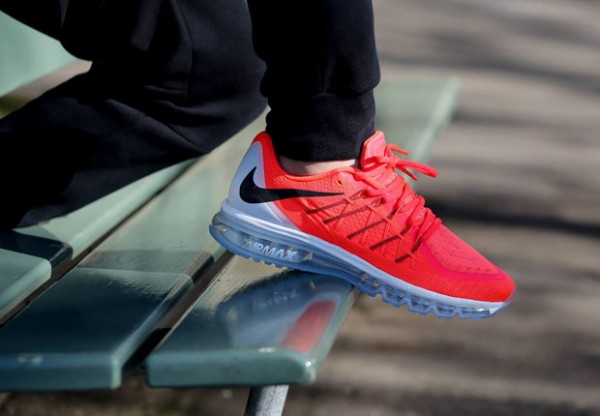 Nike Air Max 2015 - Bright Crimson / Black - Summit White 2