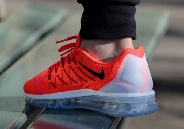 Nike Air Max 2015 - Bright Crimson / Black - Summit White 3