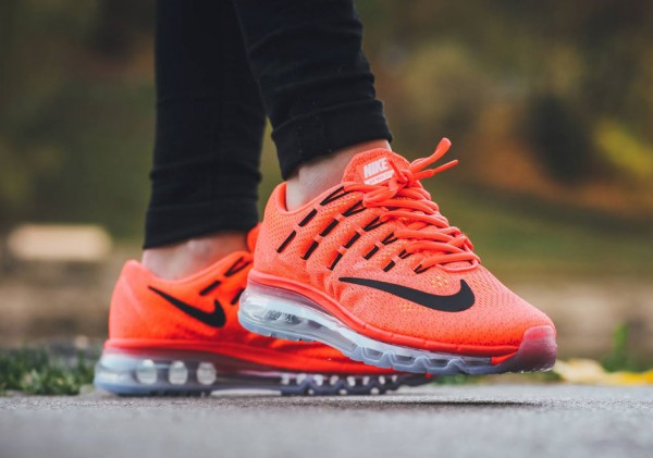 Nike Air Max 2016 GS - Bright Crimson/Black-Gym Red-Volt 2