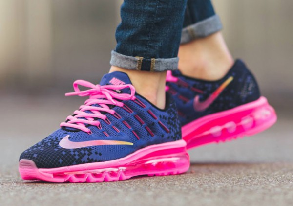 Nike Air Max 2016 Print GS - Deep Night/Black-Pink Blast-Volt
