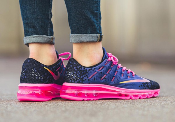Nike Air Max 2016 Print GS - Deep Night/Black-Pink Blast-Volt 3