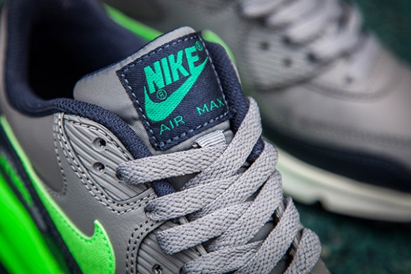 Nike Air Max 90 - Cool Grey/Voltage Green-Midnight Navy-White 2
