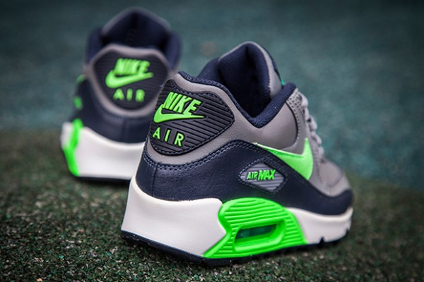 Nike Air Max 90 - Cool Grey/Voltage Green-Midnight Navy-White 3