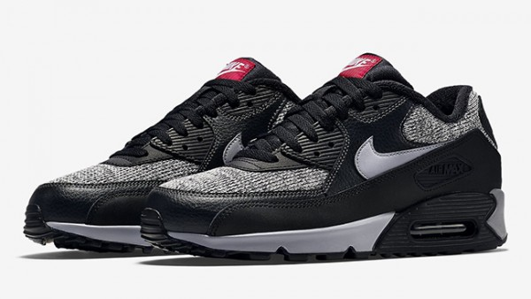 Nike Air Max 90 Essential - Black/Cool Grey-Anthracite-University Red 7