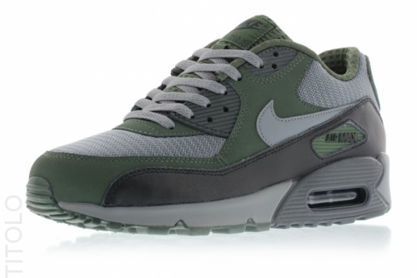 Nike Air Max 90 Essential - Cool Grey/Clear Grey-Black-Carbon Green 5