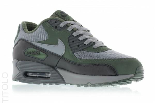 Nike Air Max 90 Essential - Cool Grey/Clear Grey-Black-Carbon Green 6