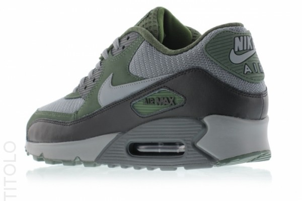 Nike Air Max 90 Essential - Cool Grey/Clear Grey-Black-Carbon Green 7