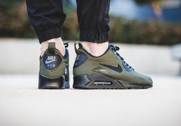 Nike Air Max 90 Mid Sneakerboot - Dark Loden/Black-Dark Grey 3