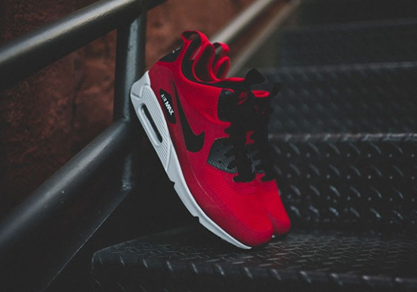 Nike Air Max 90 Mid Winter - Gym Red/Black-Wolf Grey 2