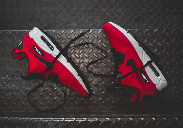 Nike Air Max 90 Mid Winter - Gym Red/Black-Wolf Grey 3