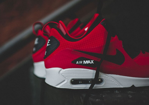 Nike Air Max 90 Mid Winter - Gym Red/Black-Wolf Grey 6