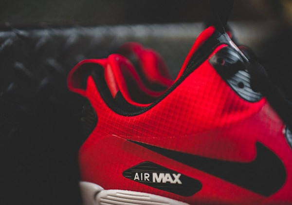 Nike Air Max 90 Mid Winter - Gym Red/Black-Wolf Grey 7