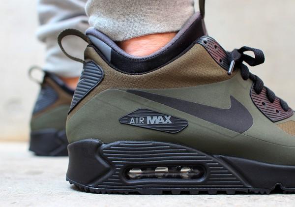Nike Air Max 90 Mid WNTR - Dark Loden / Black - Dark Grey 2