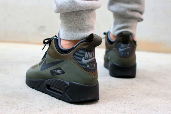 Nike Air Max 90 Mid WNTR - Dark Loden / Black - Dark Grey 3