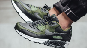 Nike Air Max 90 Premium – Black/Anthracite-Legion Green-Palm Green
