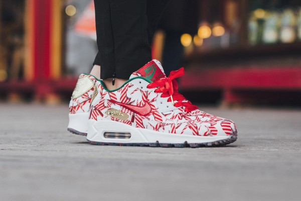 Nike Air Max 90 QS - White/University Red-Metallic Gold 12
