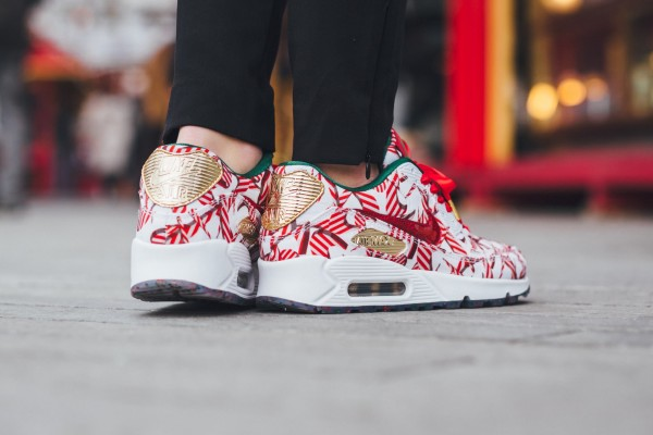 Nike Air Max 90 QS - White/University Red-Metallic Gold 13